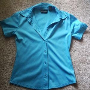 Collared short sleeve work top